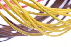 Cable del ordenador aislado en blanco Imágenes de archivo libres de regalías