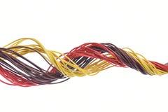 Cable del ordenador aislado en blanco Fotografía de archivo libre de regalías