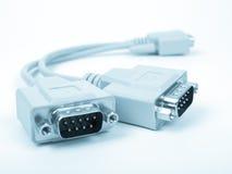 Cable del ordenador, azul entonado Imagen de archivo