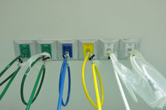 Cable del oxígeno Imagenes de archivo