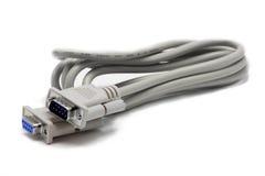 Cable del serial RS232 Imágenes de archivo libres de regalías