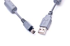 Cable del USB Imagenes de archivo