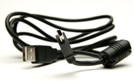 Cable del USB Foto de archivo libre de regalías