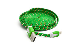 Cable del USB Fotografía de archivo
