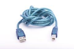 Cable del Usb en el fondo blanco Fotografía de archivo libre de regalías