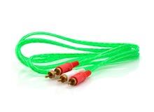 Cable del vídeo y del conector de audio Fotografía de archivo