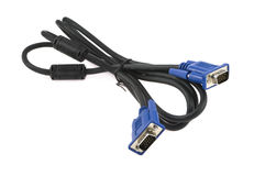 Cable del VGA imagen de archivo libre de regalías