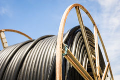 Cable drum royalty free stock photos