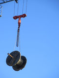 Cable drum on crane Stock Image