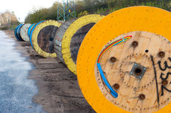 Cable drums Royalty Free Stock Photo