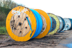 Cable drums Royalty Free Stock Photos