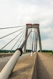 Cable of a Dutch cable-stayed bridge from close Stock Images