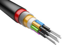 Cable eléctrico ilustración del vector