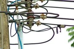 Cable eléctrico Imágenes de archivo libres de regalías