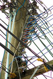 Cable eléctrico Fotografía de archivo libre de regalías