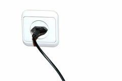 Cable eléctrico Imagenes de archivo