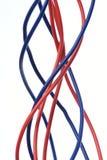 Cable eléctrico aislado en blanco Fotografía de archivo libre de regalías