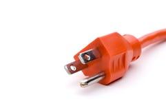 Cable eléctrico anaranjado Fotografía de archivo