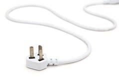Cable eléctrico blanco Imagen de archivo