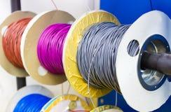 Cable eléctrico colorido Imágenes de archivo libres de regalías