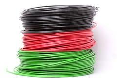 Cable eléctrico colorido Fotografía de archivo