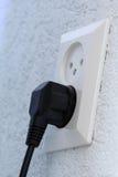 Cable eléctrico conectado Fotos de archivo