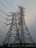 Cable eléctrico de alto voltaje Imagen de archivo libre de regalías