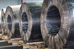 Cable eléctrico de la potencia industrial Fotos de archivo libres de regalías