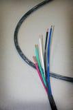 Cable eléctrico del poder Imágenes de archivo libres de regalías