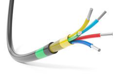 Cable eléctrico multifilar ilustración del vector