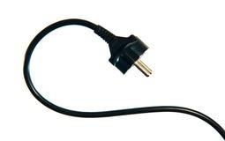 Cable eléctrico negro Imagen de archivo libre de regalías