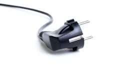 Cable eléctrico negro Foto de archivo libre de regalías