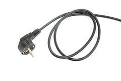 Cable eléctrico negro del ordenador Imagen de archivo libre de regalías