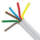 Cable eléctrico trenzado Imagenes de archivo
