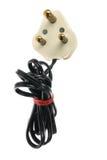 Cable eléctrico y enchufe Imagen de archivo