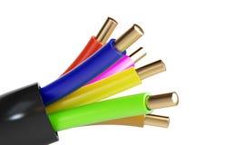 cable elektryczne 3D ilustracje Zdjęcie Royalty Free