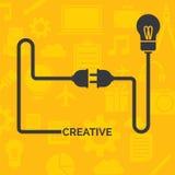 Cable en fondo amarillo Imagen de archivo libre de regalías