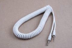 Cable espiral blanco Fotos de archivo