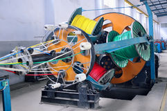 Cable Factory workshop. Cable plant equipment,which taken in a Cable Factory Stock Photo