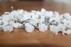 Cable fasteners. Fo electric jobs royalty free stock photos