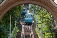 Cable-ferrocarril viejo Imagenes de archivo