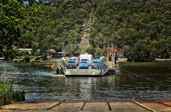 Cable ferry across a river in Australia Stock Photos