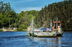 Cable ferry across a river in Australia Stock Image