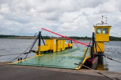 Cable ferry on island of Oroe Royalty Free Stock Image