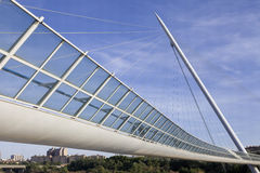 Cable footbridge Stock Images