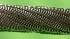 Cable galvanizado Fotografía de archivo libre de regalías