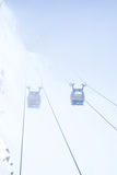 Cable gondolas Royalty Free Stock Photos