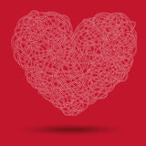 Cable heart Royalty Free Stock Images