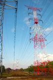 Cable Hight Volt. Country landscape with cable hight volt Stock Image