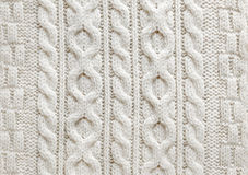 Cable knit fabric background royalty free stock images